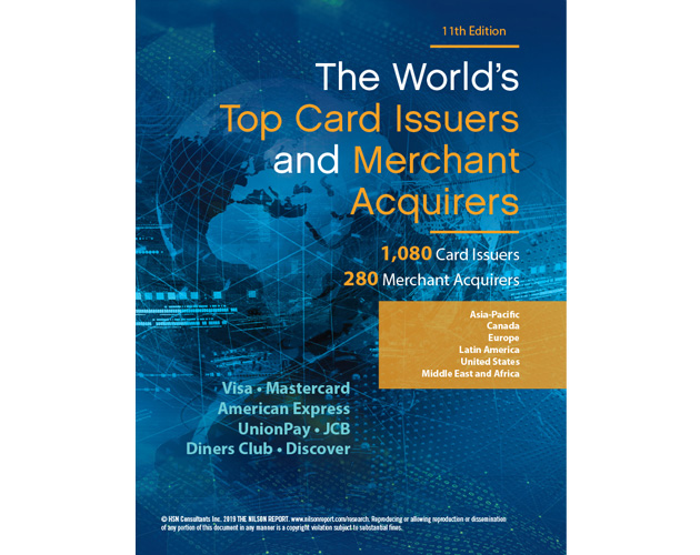 The Nilson Report | Research | The World's Top Card Issuers
