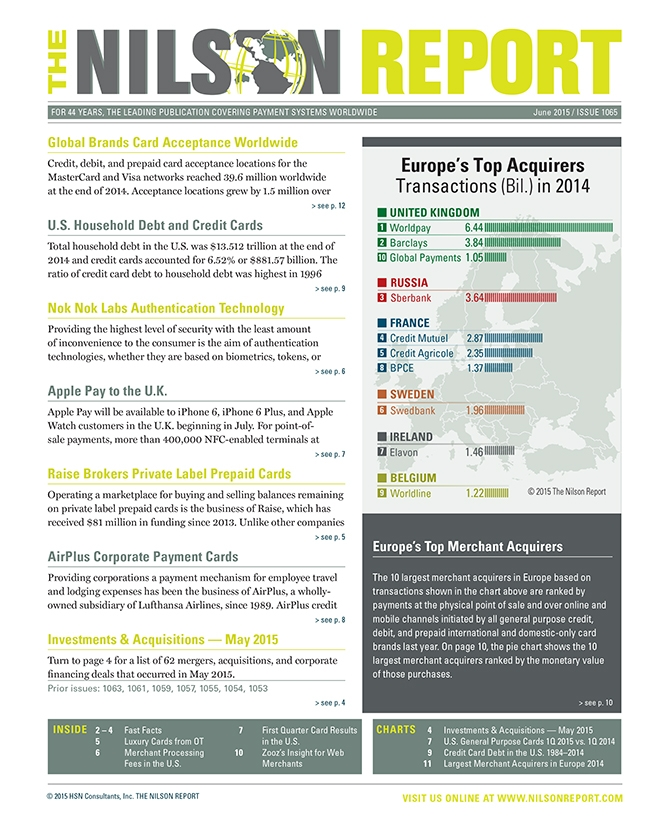 Card and Mobile Payment Industry News | The Nilson Report ...