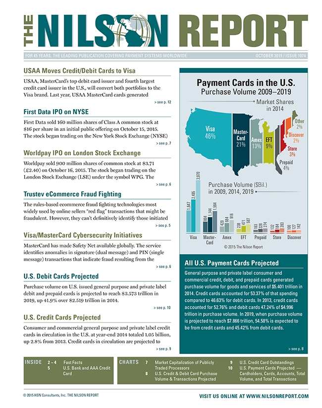 Card And Mobile Payment Industry News Nilson Report Newsletter Archive